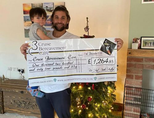 First cheque for Cruse